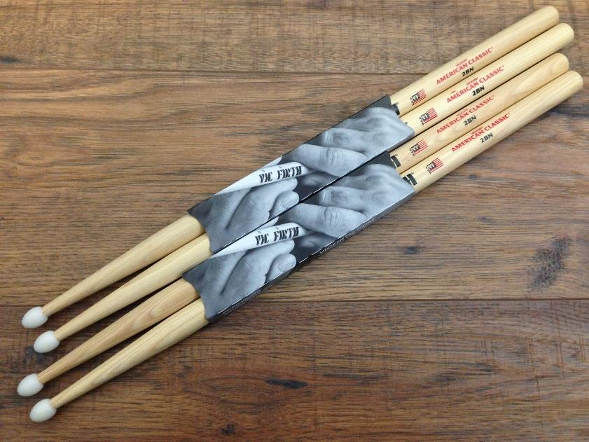 Vic Firth 2BN American Classic Nylon Tip Hickory Drumsticks 2 Pair *