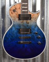 ESP E-II Eclipse Blue Natural Fade Guitar & Case Japan EIIECBMBLUNDFD #5193