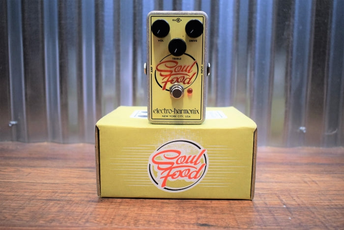 Electro Harmonix EHX  Soul Food Distortion Fuzz Overdrive Pedal & Power Supply Used