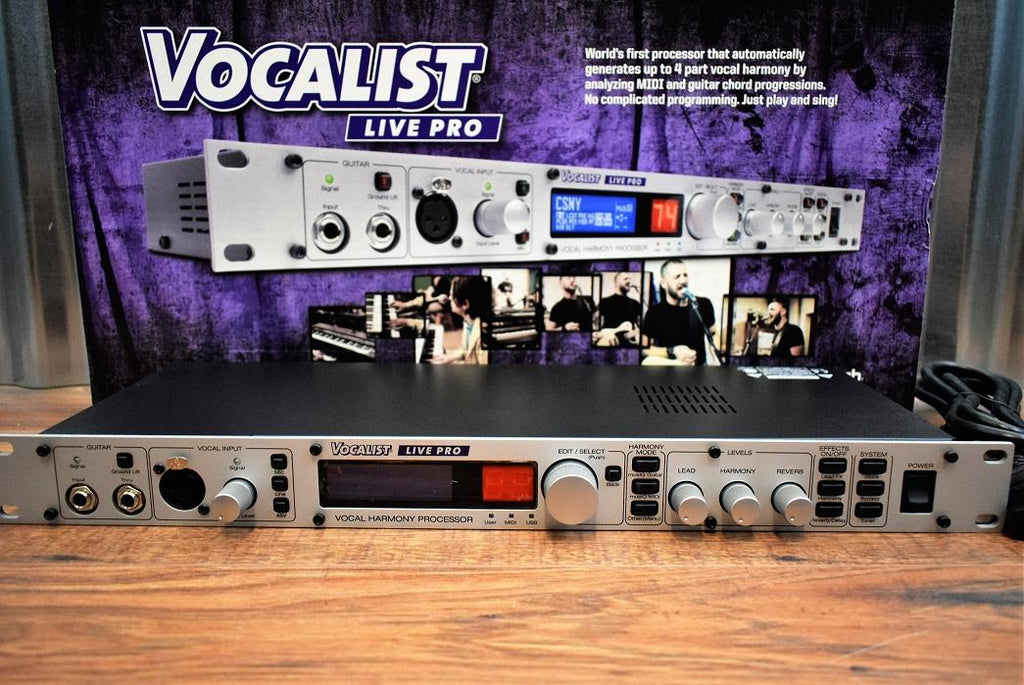 Digitech Vocalist Live Pro Vocal & Guitar Lexicon Effects Automatic Harmonizer