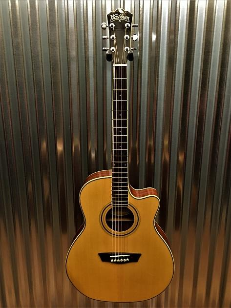 Washburn WCG18CE Comfort Select Grand Auditorium Acoustic Electric Guitar #0923
