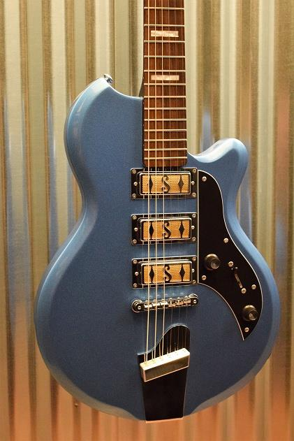 Supro Island Series 2030BM Hampton Blue Metallic Guitar & Case #202