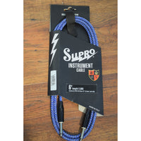 Supro USA CX-6 6' Guitar Bass Instrument Cable Blue