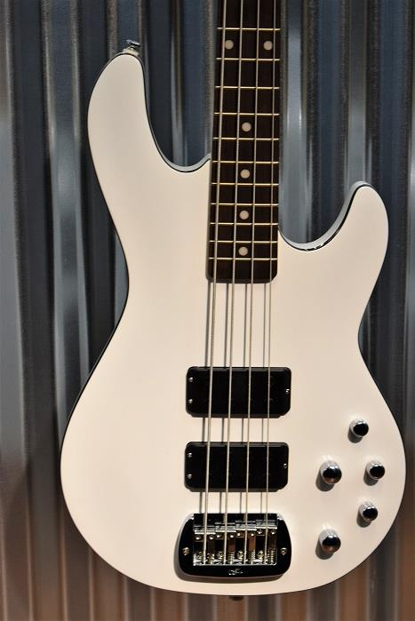 G&L Tribute M-2000 GTB 4 String Carved Top Gloss White Bass M2000 #7571