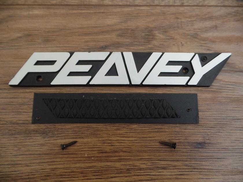Peavey Logo Badge Nameplate New Design for Amplifier or Speaker Cabinet