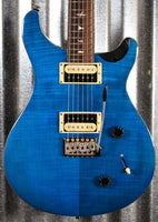 PRS Paul Reed Smith SE Custom 22 Sapphire Black Back Guitar & Bag #5710