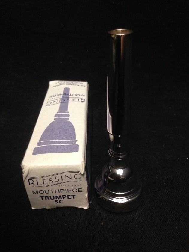 Blessing Brass MPC5CTR 5C Silver Plate Trumpet Mouthpiece*