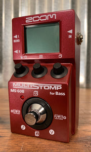 Zoom MS-60B MulitStomp Programmable Bass Guitar Effect Pedal Demo