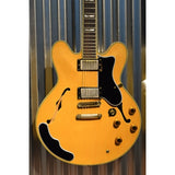 Epiphone Sheraton II Semi Hollow Natural Guitar Seymour Duncan 59 & Case 1990's Korea Used