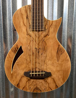 ESP LTD TL-5 Spalted Maple Thinline 5 String Acoustic Electric Bass & Case LTL5SMNAT #1996