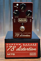 Dunlop MXR M78 Custom Badass '78 Distortion Guitar Effect Pedal