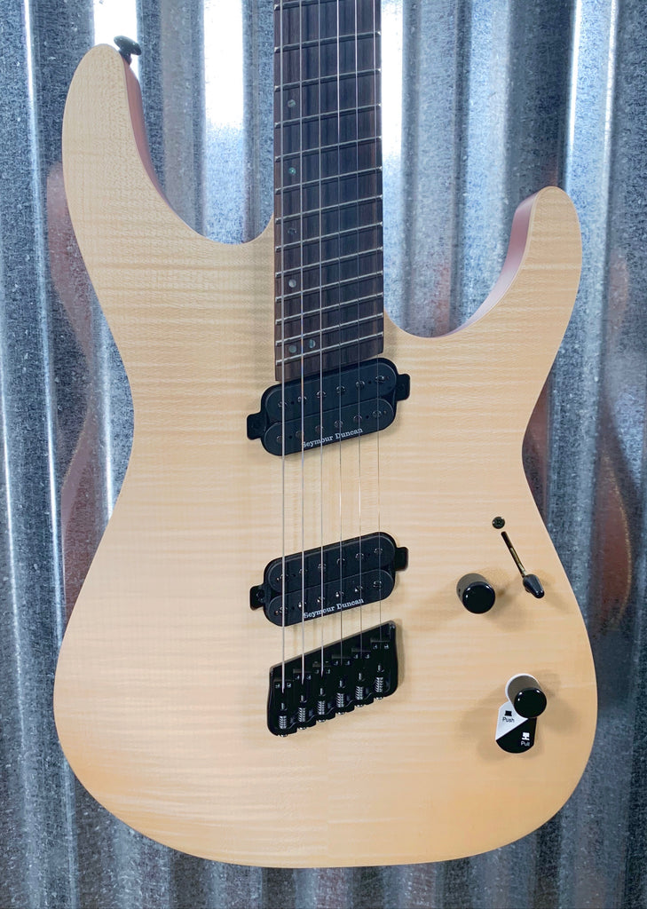 ESP LTD M-1000 Multi Scale Flame Natural Satin Guitar & Bag LM1000MSNS #0592