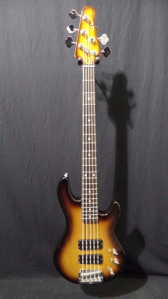 G&L Tribute L2500 Electric Bass Guitar in Tobacco Burst & Gig Bag #2405
