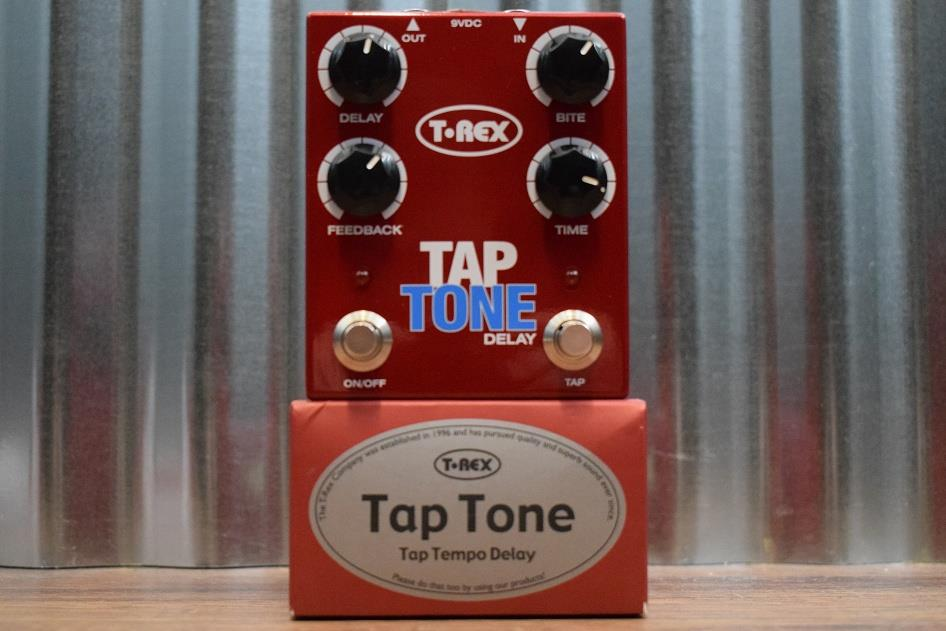 T-Rex Engineering Tap Tone Tap Tempo Delay Guitar Effects Pedal Demo #802