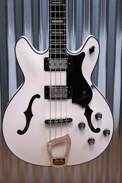 Hagstrom Viking Bass 4 String White Semi Hollow VIKB-WHT #0220