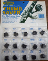 Runyon Soft Plastic Clarinet Oboe Thumb Saver Card of 15