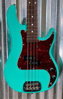G&L USA Fullerton Custom LB100 Belair Green 4 String Bass & Case LB-100 #7365