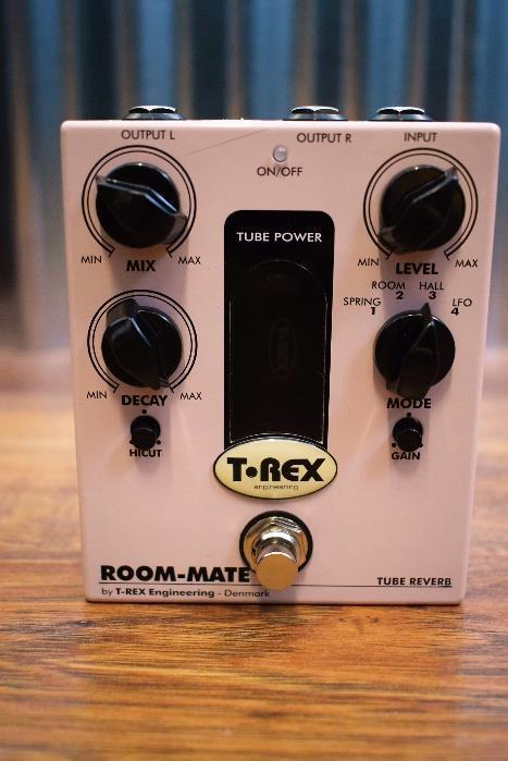 T-Rex Engineering Room Mate Tube Driven Reverb Pedal with Four Presets #4679