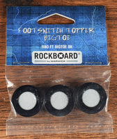 Warwick Rockboard BigToe Guitar Effect Pedal Footswitch Topper Black Set of 3