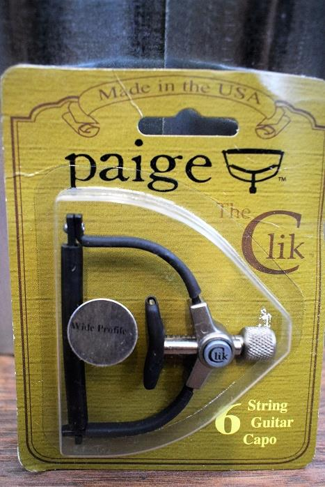 "Paige The Clik PC-6-2.250R 2 1/4"" Wide 6 String Guitar Capo"
