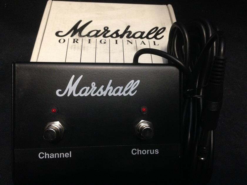 Marshall Amplification PED802A Two Button Footswitch Twin Pedal With LED NEW!!