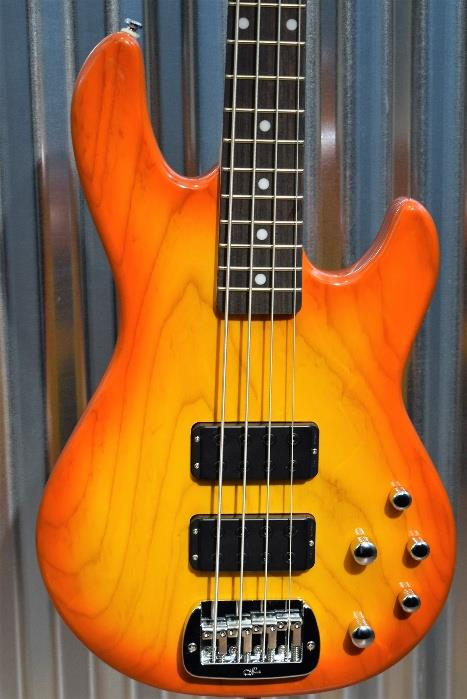 G&L Tribute M-2000 4 String Bass Honeyburst 3 Band Active EQ M2000 #3665