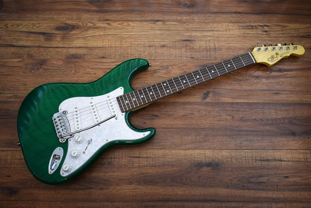 G&L Guitars USA Legacy Clear Forest Green Electric Guitar & Case 2016 #7449