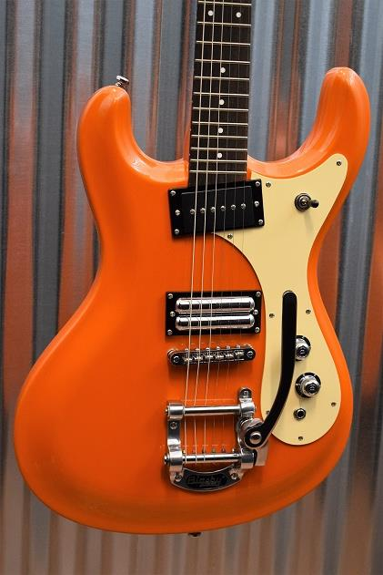 Danelectro The 64 Vintage Style Orange Metallic Bigsby Electric Guitar #3595
