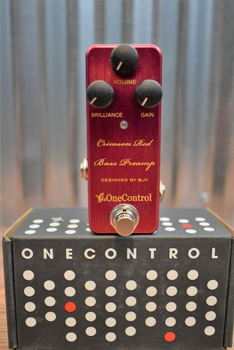 One Control BJF Crimson Red Bass Preamp Boost Guitar Effect Pedal