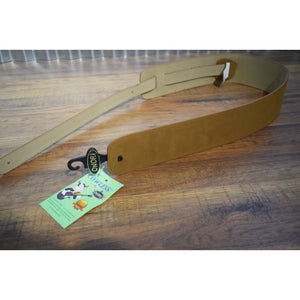 "Onori International CL-S3-SND Cowless 3"" Suede Leather Free Guitar Strap Sand"