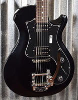 PRS Paul Reed Smith S2 Starla Single Cut Bigsby Vibrato Black Guitar & Bag #7271