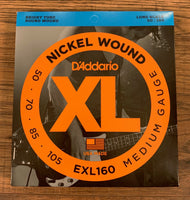 D'Addario EXL160 Medium Nickel Wound Long Scale Bass 4 Strings 50-105
