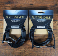 Warwick Rockboard Flat Patch TRS Guitar Bass Pedalboard Expression Cable 3.93' Black 2 Pack