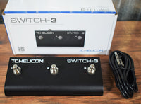 TC Helicon TC Electronic Switch 3 Button Guitar Effect Remote Control Footswtich Pedal