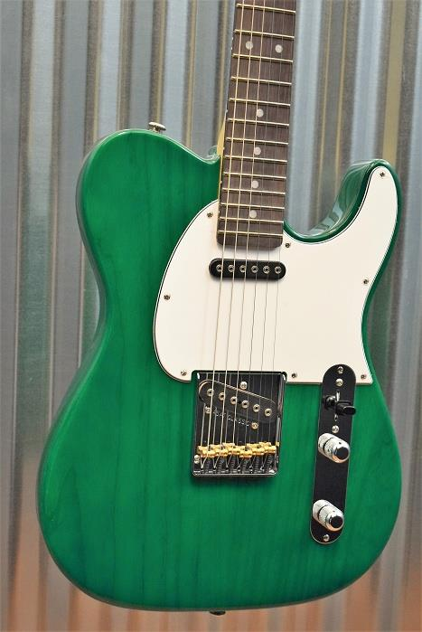 G&L Guitars USA ASAT Classic Clear Forest Green Electric Guitar & Case 2016 #7413