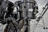 DW Pacific Drums Mainstage Black Metallic 5 Piece Drum Kit & Stands & Throne