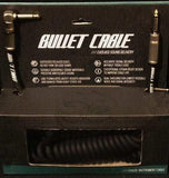 Bullet Cable 30' Coil Black with Angle & Straight for Guitar & Bass BC-30CCSA
