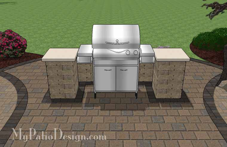 ... Arcs Patio Design With Grill Station 6 ...