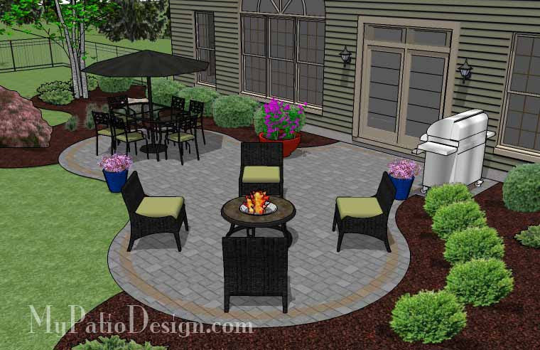 Beautiful Patio Design | Patio Layout, How-to's and ... on Patio Designs For Straight Houses id=39705