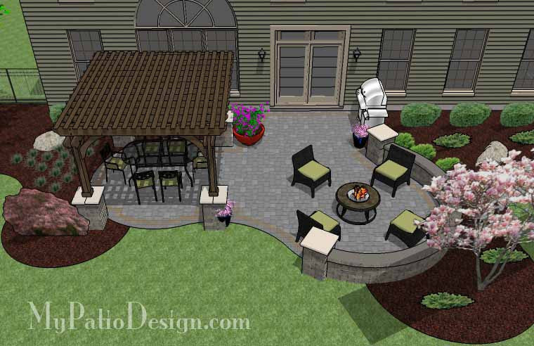 Beautiful Patio Design with Pergola 2