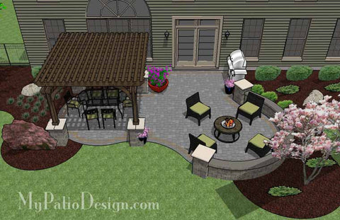 beautiful patio design with pergola 2 - Patio Designs