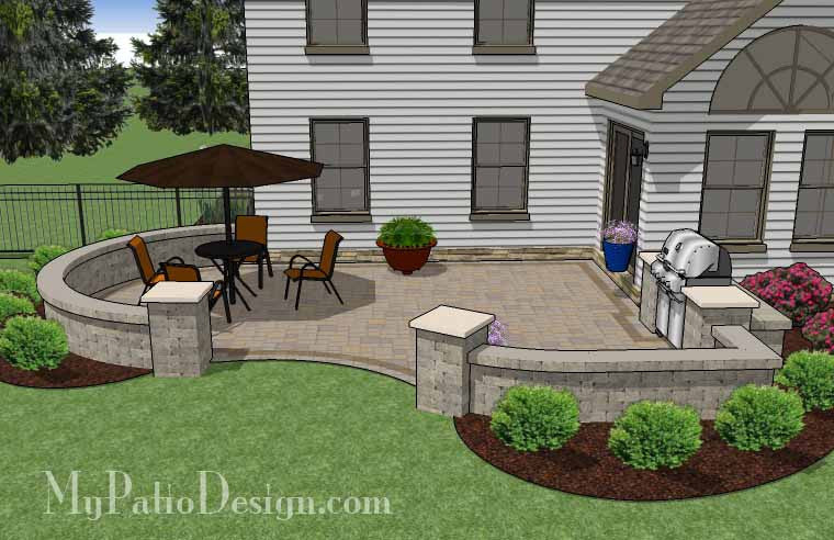 ... Cheap Backyard Patio Design With Grill Station 3 ...