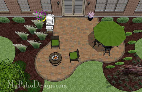 Circles and Curves Patio Design 2