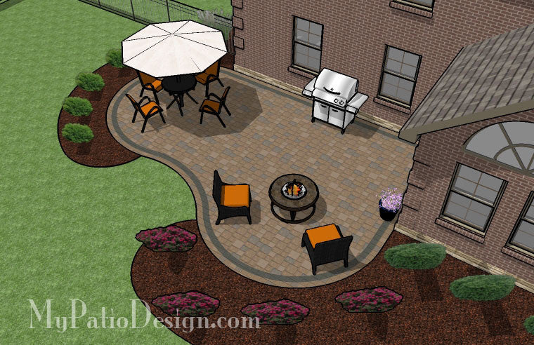 What are some popular outdoor paver patio designs?