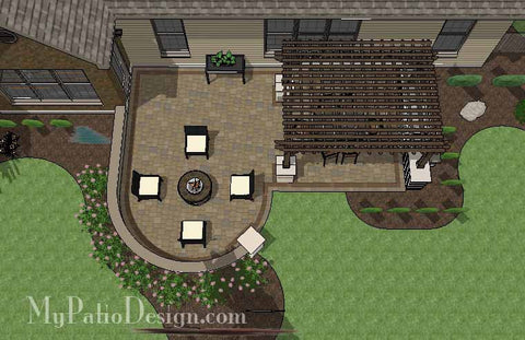 Cozy Outdoor Living Design with Pergola 1