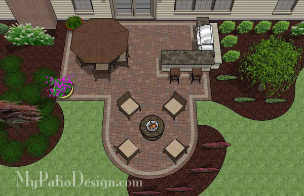 Creative Backyard Patio Design With Grill Station Bar