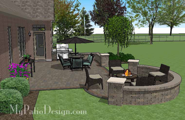 Creative Outdoor Design With Seat Walls Download Patio