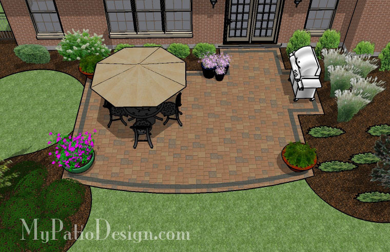 Creative And Simple Patio Design   420 Sq. Ft.