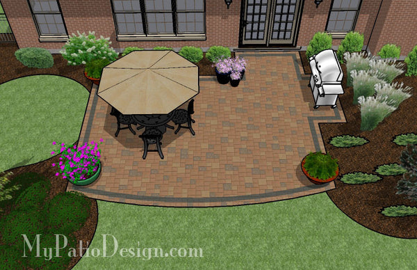 Creative and Simple Patio Design | Downloadable Plan ... on Patio Designs For Straight Houses id=68581