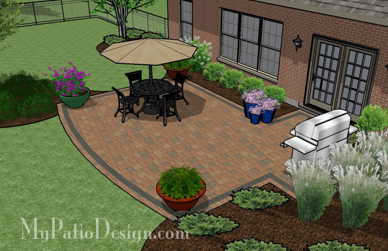 Creative and Simple Patio Design | Downloadable Plan ... on Basic Patio Designs id=78739
